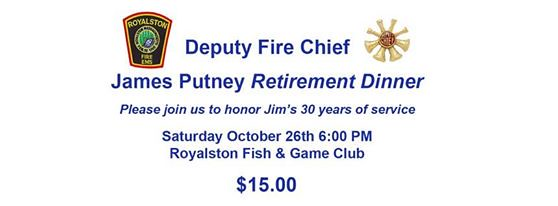 Royalston Deputy Retirement