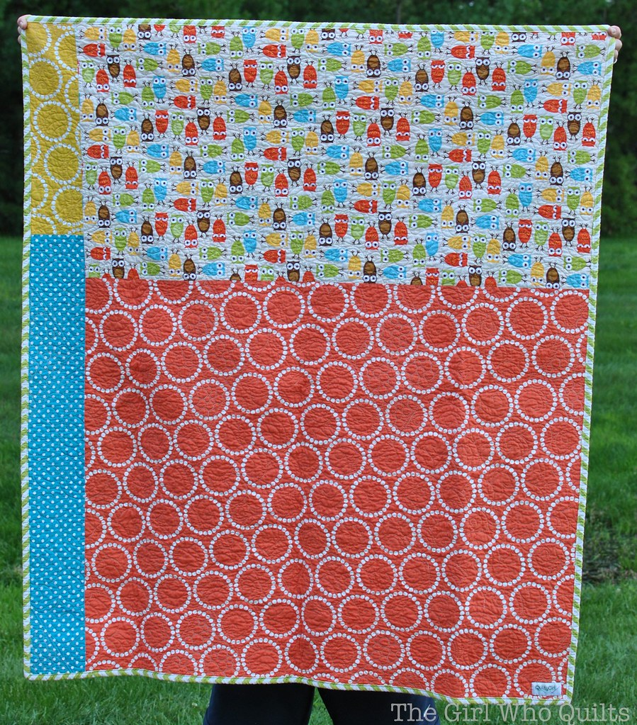 Diamonds for Ducklings Baby Quilt