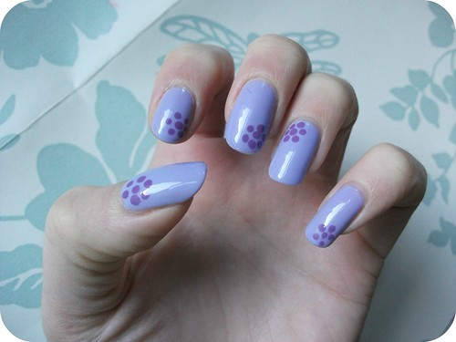 Blueberry Flowers NOTD