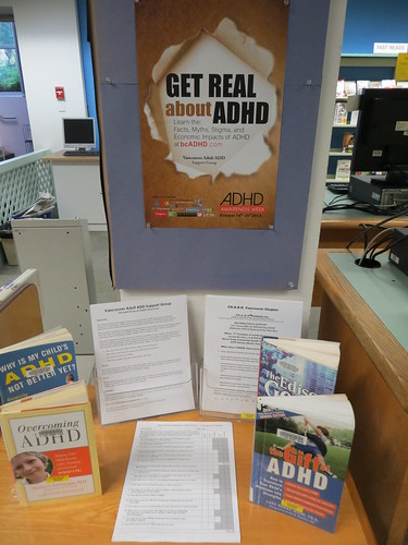 Oakridge Library, Vancouver ADHD Awareness Week book display photo #2