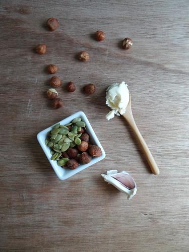 pumpkin ravioli // hazelnut tarragon butter