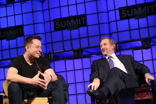 Elon Musk and Enda Kenny