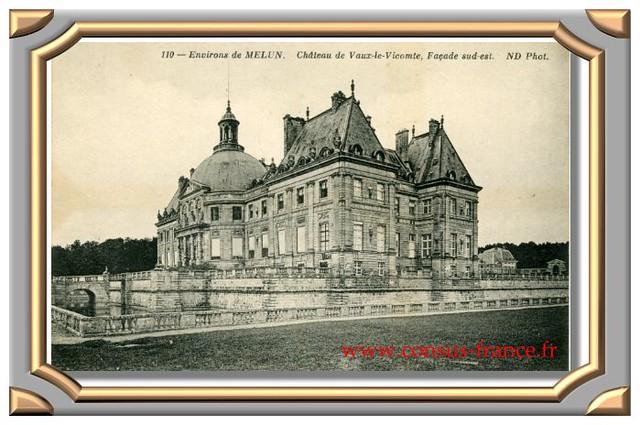 Le Château de Vaux-le-Vicomte, Façade sud-est