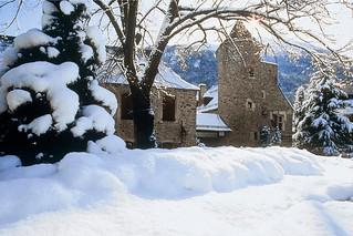 El pueblo, en invierno.