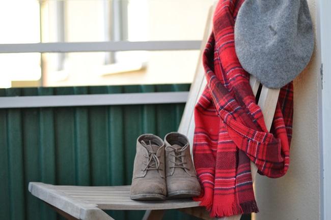 Outfit Schal H&M Tartan (1)