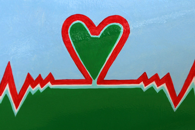 Heart EKG painting photo by Leo Reynold