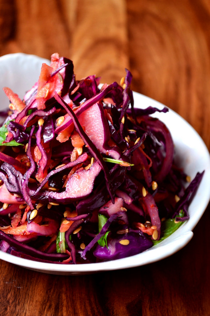 Spiced Red Cabbage Slaw