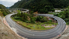 highway, bird's-eye view, transport, road, lane, controlled-access highway, overpass, mountain pass, infrastructure, bridge,