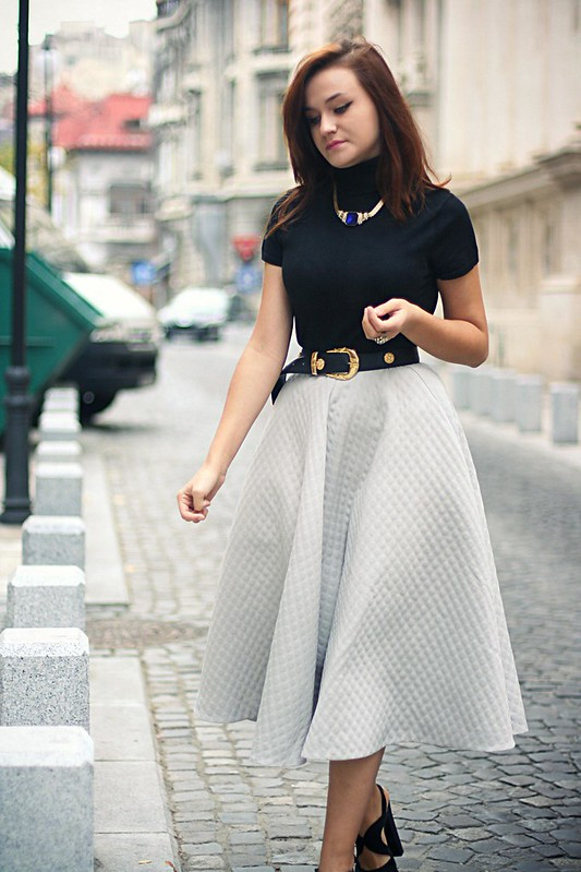h&m full midi skirt 5
