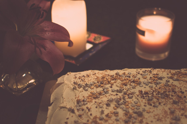 candles and cake