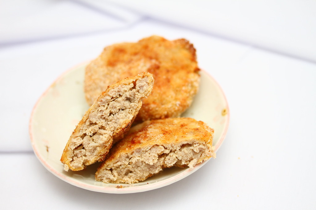 Samsung Smart Oven Brunch: Fried Meat Patty