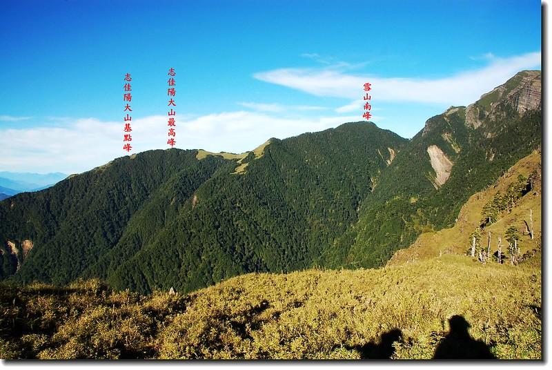 雪山東峰西南眺志佳陽大山 1
