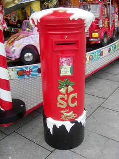 Festive Pillar Box in Plymouth