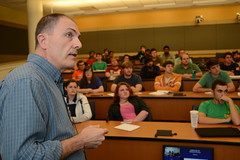 Professor David Umphress shares his knowledge of software engineering with his students.