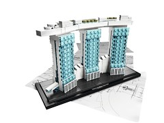 LEGO structure of Marina Bay Sands