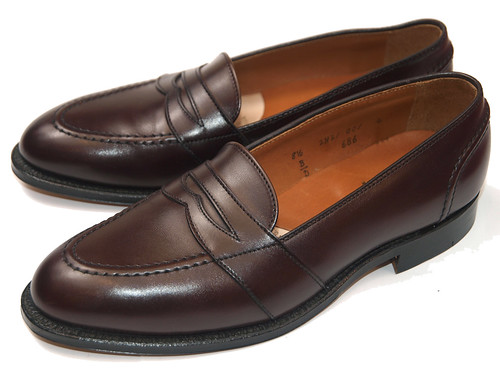 Alden / 686 Dark Brown Calfskin Full Strap Slip-On