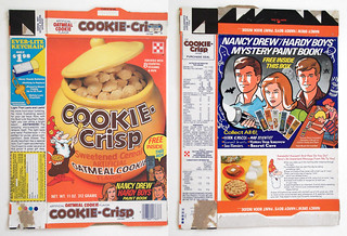 1979 Ralston Oatmeal Cookie-Crisp Cereal Box Nancy Drew