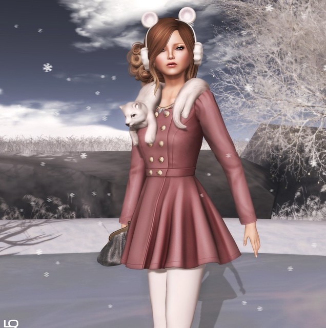 C88 - The Secret Store - Sarah Dress Coat - Rose & The Arcade - Birdy  Foxy Neck snuggler