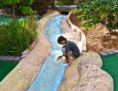 Mini Golf - Putt N Around, South Florida - playing in the water