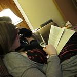 Sarah reading on Xmas