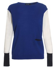 colour_block_jumper_colbalt_white_black_front