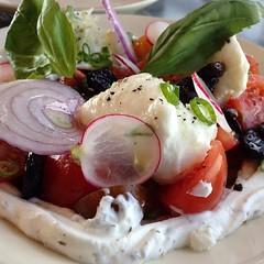 Tomato and mozzarella salad.