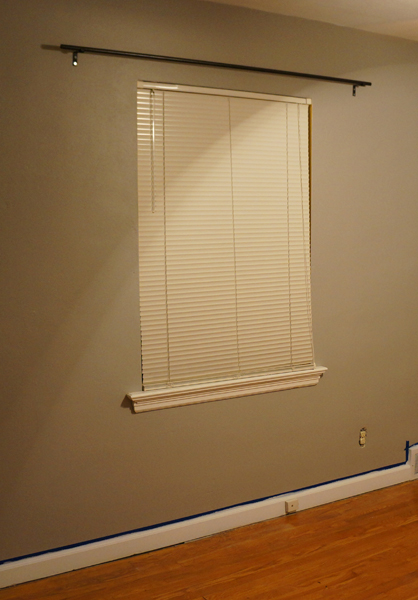 Curtains Ideas curtain rod close to wall : How to Make Curtain Rods (for less than $5 each!) » Naptime DIY