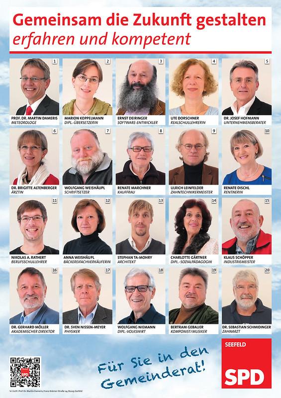 SPD Seefeld - Plakat Gemeinderatliste 2014_2