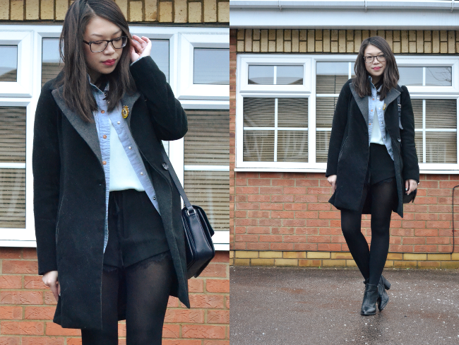 Daisybutter - UK Style and Fashion Blog: what i wore, how to layer, ways to wear a denim shirt
