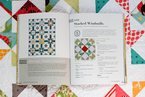 Modern Bee Book - Stacked Windmills Quilt by Jeni Baker