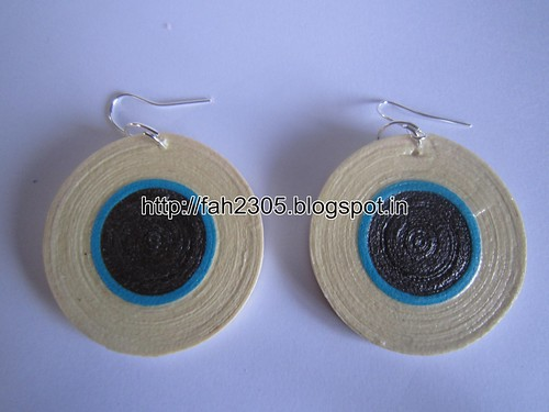 Handmade Jewelry - Paper Quilling Disk Earrings (8) by fah2305