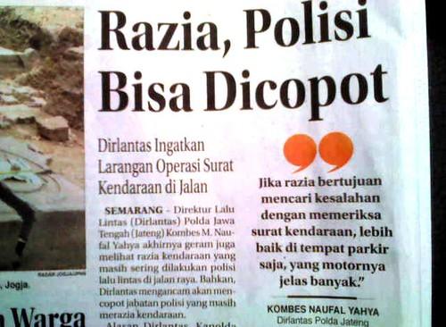 Polisi Sumut Diskriminatif Kendaraan Aceh