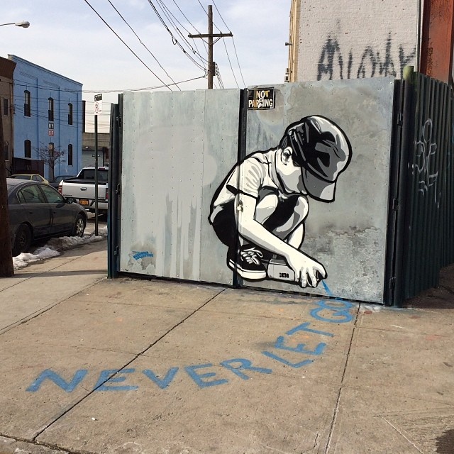 """Never let go"" - Bushwick street art"