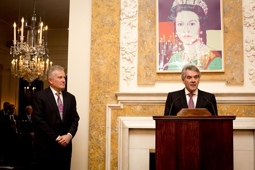 Ambassador Westmacott confers title of  Honorary CBE upon Duncan Niederauer by UKinUSA
