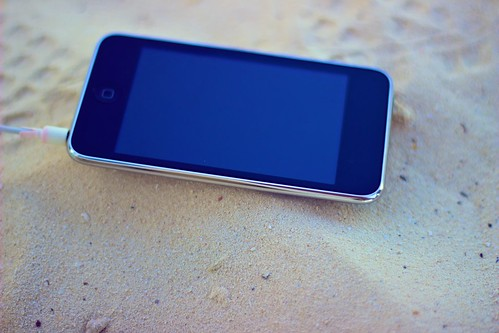 iPod on the beach