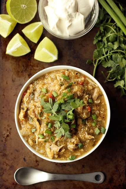 Slow Cooker Chicken Chile Verde - Gluten-free, Dairy-free, Paleo-friendly