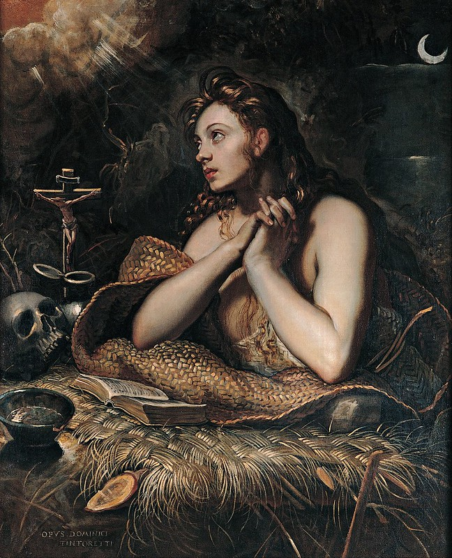 Tintoretto - Penitent Magdalene (c.1600)