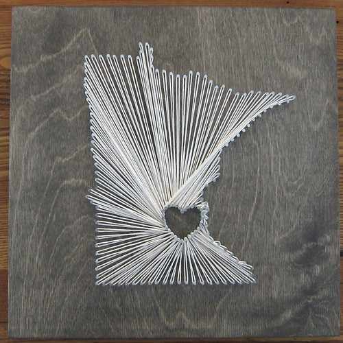 Iron Craft '14 Challenge #4 - Minnesota Love String Art