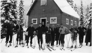Skiers at Snoqualmie Ski Area, 1938