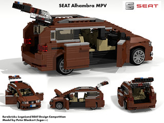 SEAT Alhambra MkII MPV -  PQ46 (Eurobricks Miniland Car Design Competition)