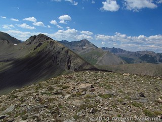 Igloo Peak and Grizzly Peak from UN 12812 above Independence Pass, White River National Forest and San Isabel National Forest, Colorado
