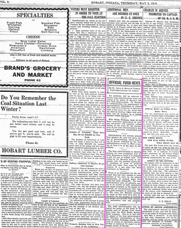 7-17-2011 Official Food News May 1918