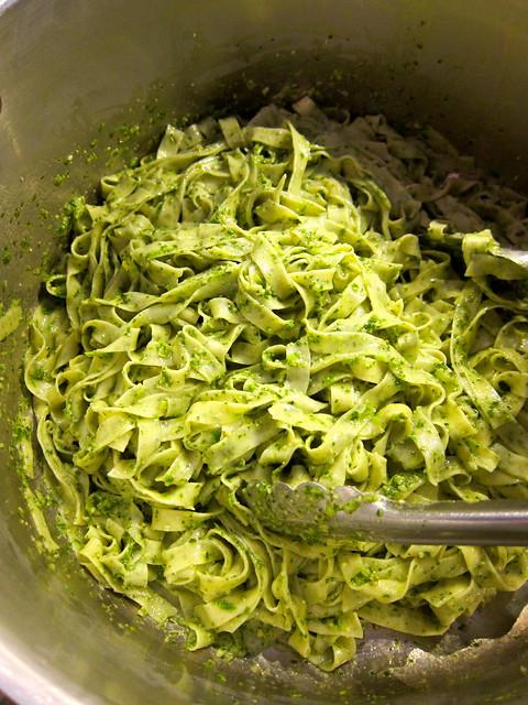 Sorrel Fettucine + Sorrel Pesto