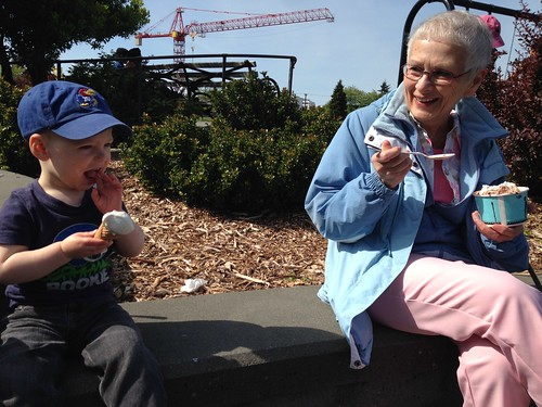 Mothers Day Ice Cream with Grandma