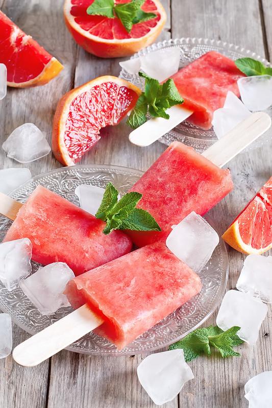 Red grapefruit popsicles