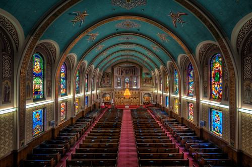 church winnipeg cathedral hdr stainedglasswindows ukrainiancatholiccathedral nikkor1024mm morrismulvey doorsopenwinnipeg2014 stsvladimirandolga