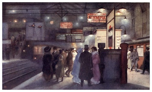 005-Estacion de Earl's Court-A Japanese artist in London (1910)- Yoshio Markino