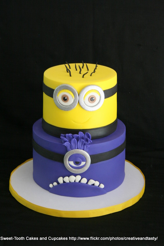Yellow and Purple Minion Cake | Flickr - Photo Sharing!