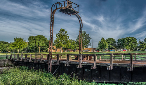 ROCK ISLAND TURNTABLE AND DEPOT IN PEORIA ILLINOIS