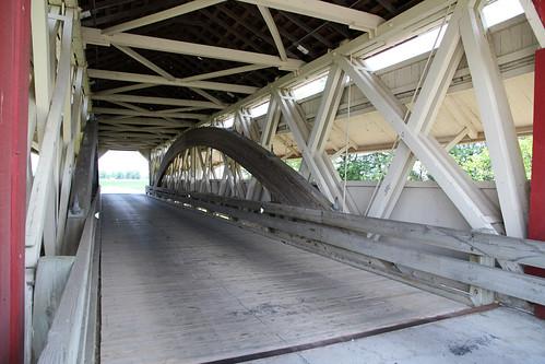Interior, Bigelow Covered Bridge — Union Township, Union County, Ohio